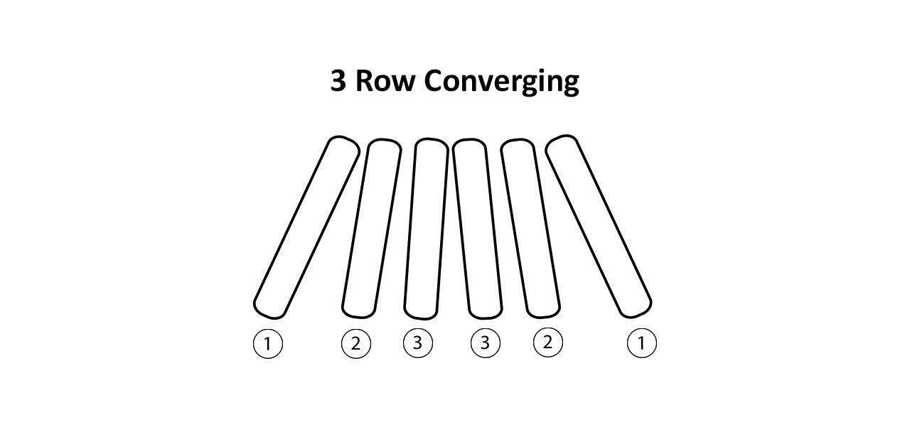 3 Row Converging Corn Head Chains