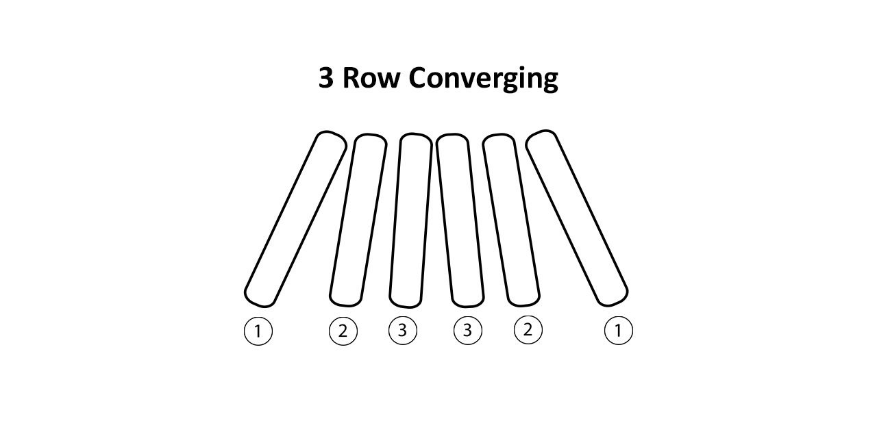 3 Row Converging Corn Head Chains