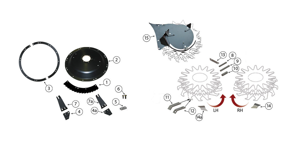 345 686 Small Drum Rotary Heads