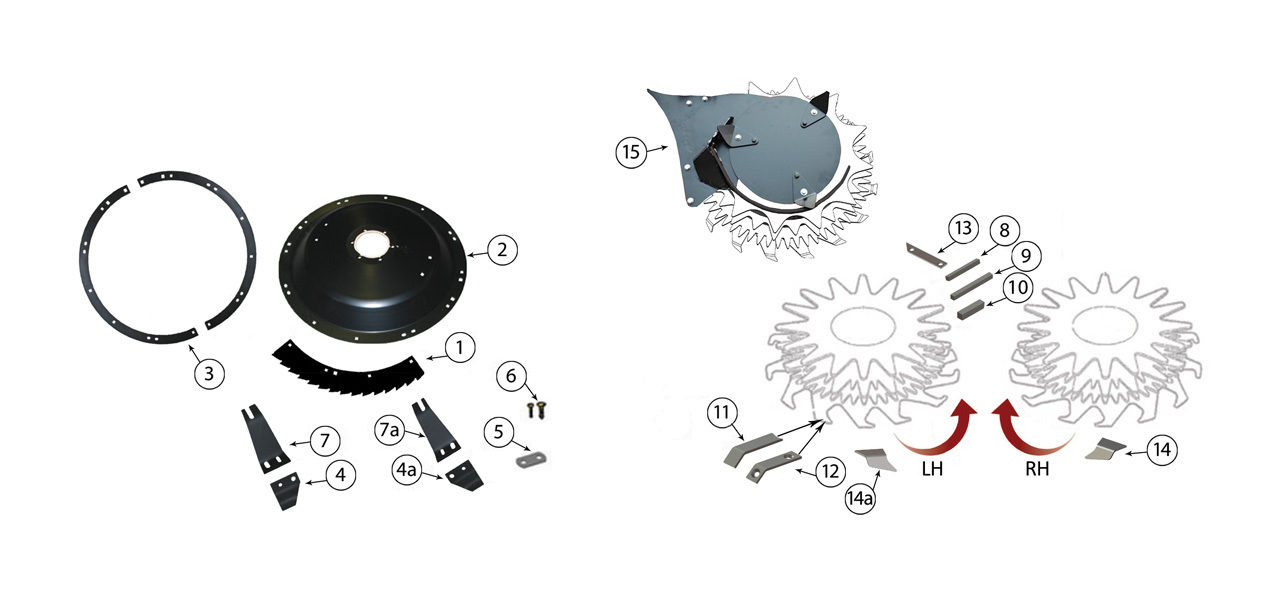 360 375 688 710 Small Drum Rotary Heads