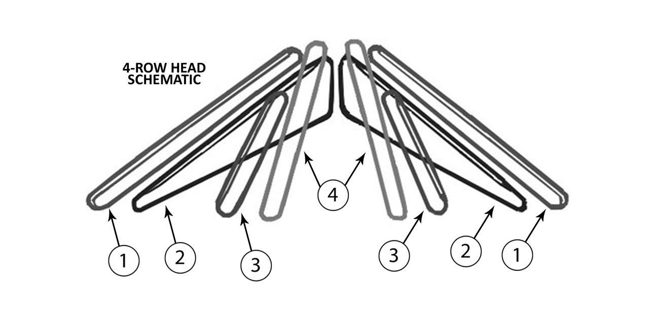 4 Row Converging Corn Head Gathering Belt Assembly