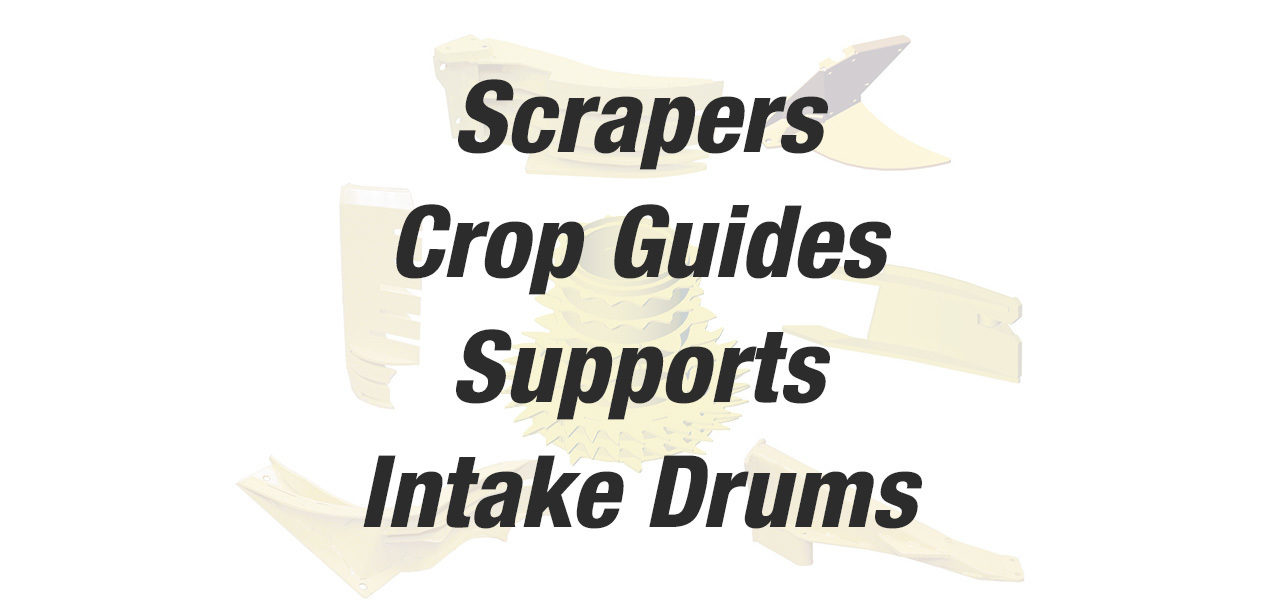 4500 Scrapers Crop Guides Supports Intake Drums