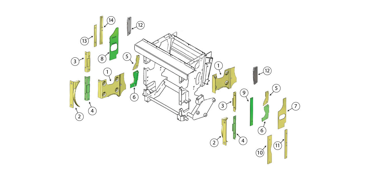 494-Feed-Roll-Housing-Wear-Plate-Assembly