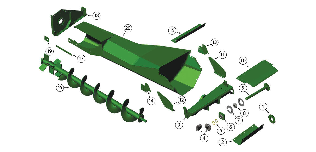 5200-5400-5420-5440-5460-5720-5730-5820-5830-Single-Auger-Box-Assembly