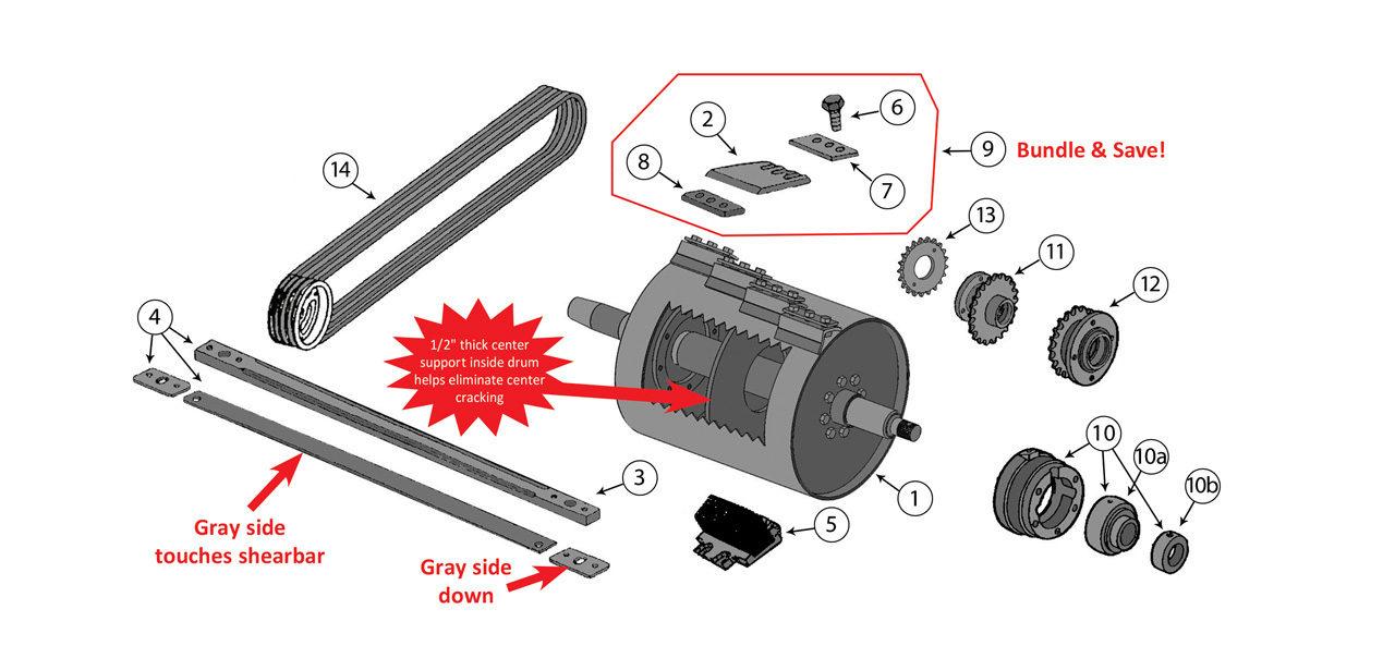 5440-5460-5720-5730-5820-5830-Cutterhead-Assembly
