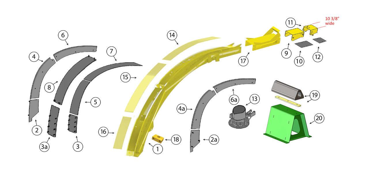 6610-6650-6710-6750-6810-6850-6910-6950-Wide-Hi-Arch-Spout-200mm-Assembly
