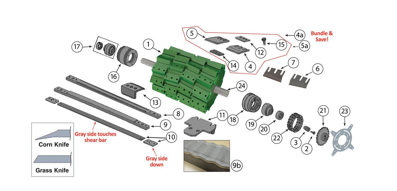 6610-6710-6810-6910-Cutterhead-Assembly
