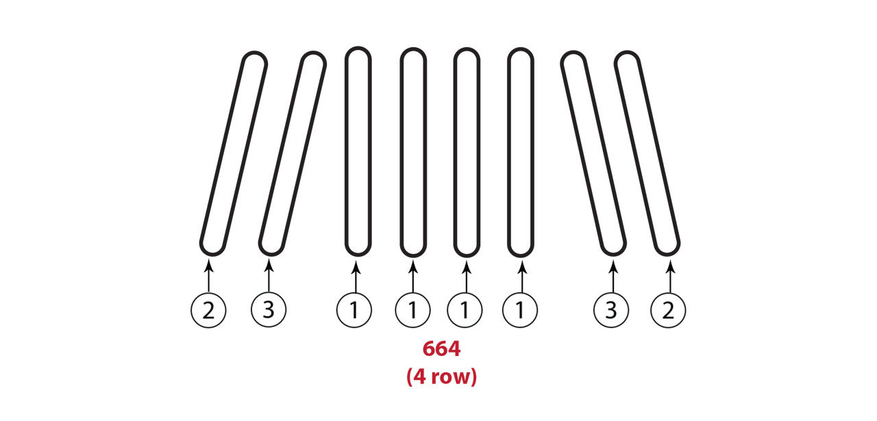 664 4 Row Gathering Chain Assembly