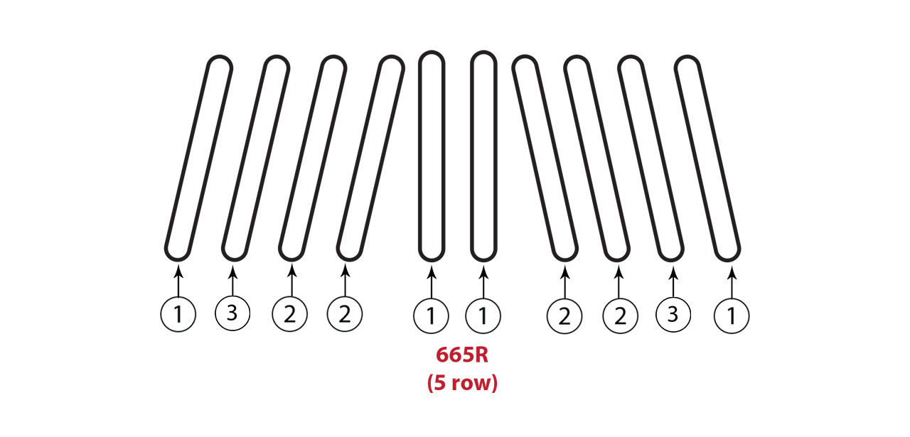 665 R 5 Row Gathering Chain Assembly
