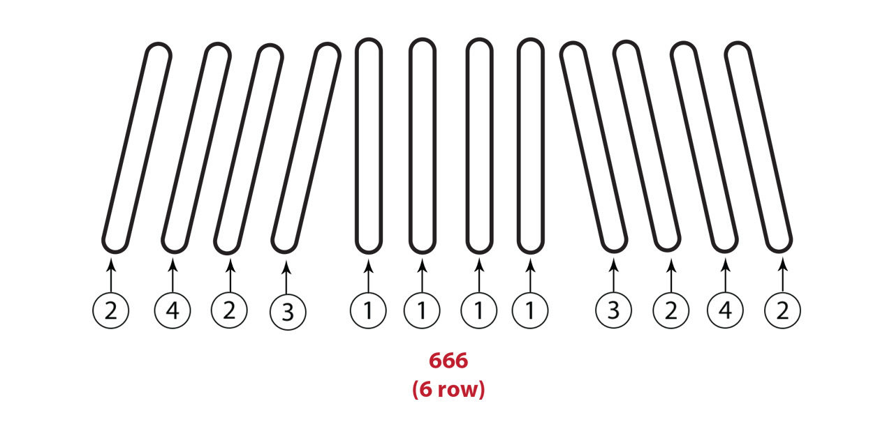666 6 Row Gathering Chain Assembly