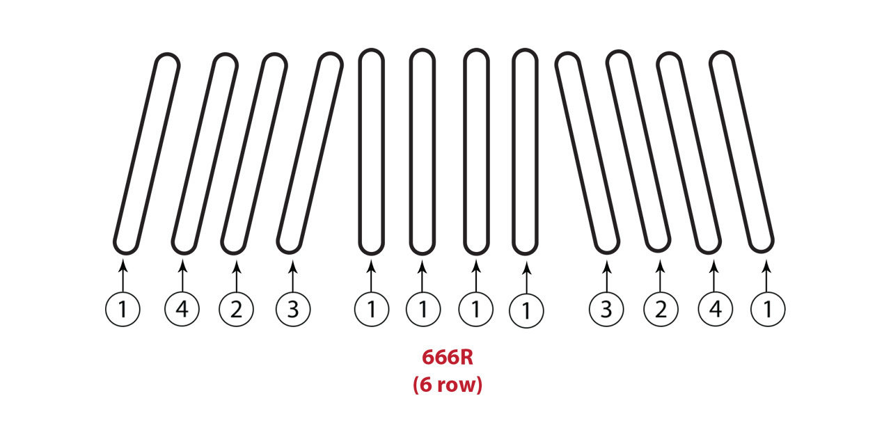 666 R 6 Row Gathering Chain Assembly