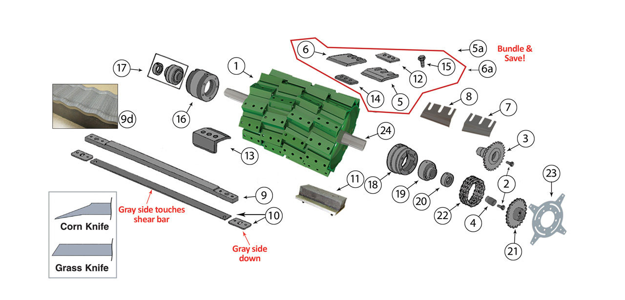 7250 7350 7450 7550 Cutter Head Assembly