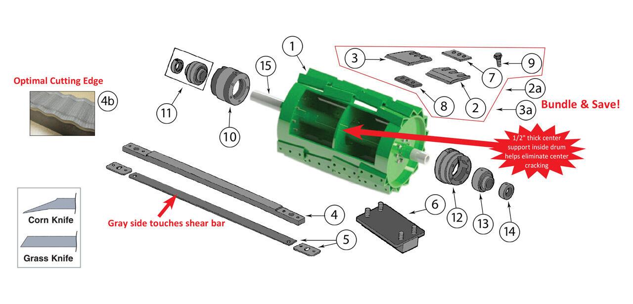 7700-7750-7780-7800-7850-7950-7980-Cutterhead-Assembly