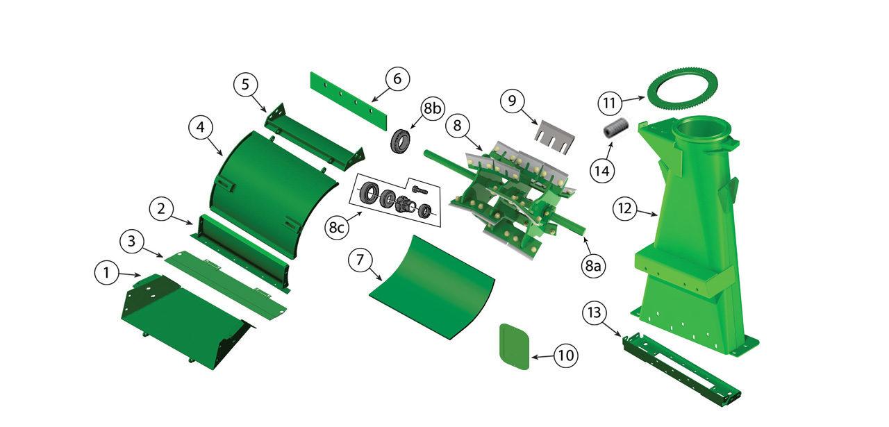 7700 7800 Blower Assembly Spout Transition 2