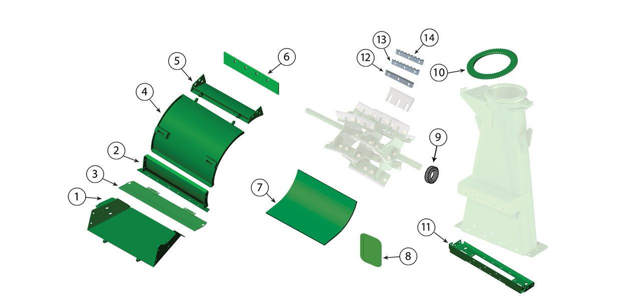 7780 7980 Blower Assembly Spout Transition 2