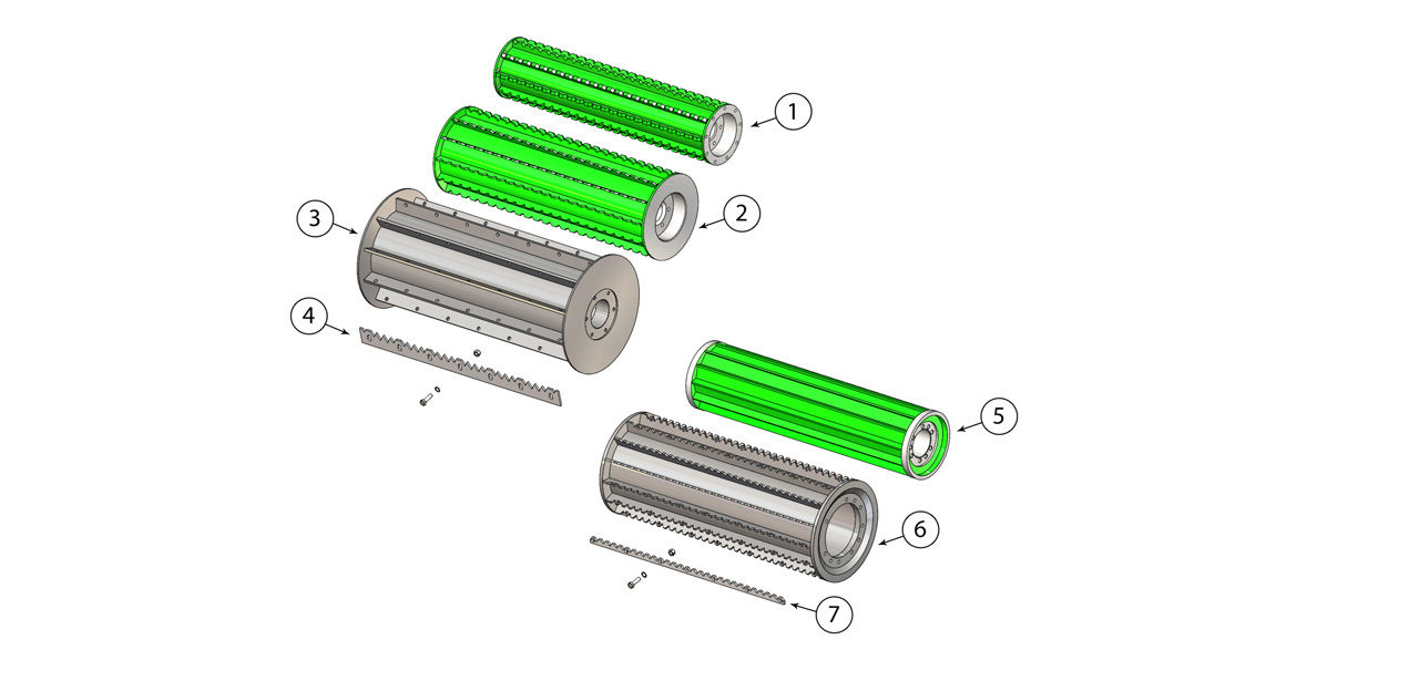 850 1100 Feed Roll Assembly