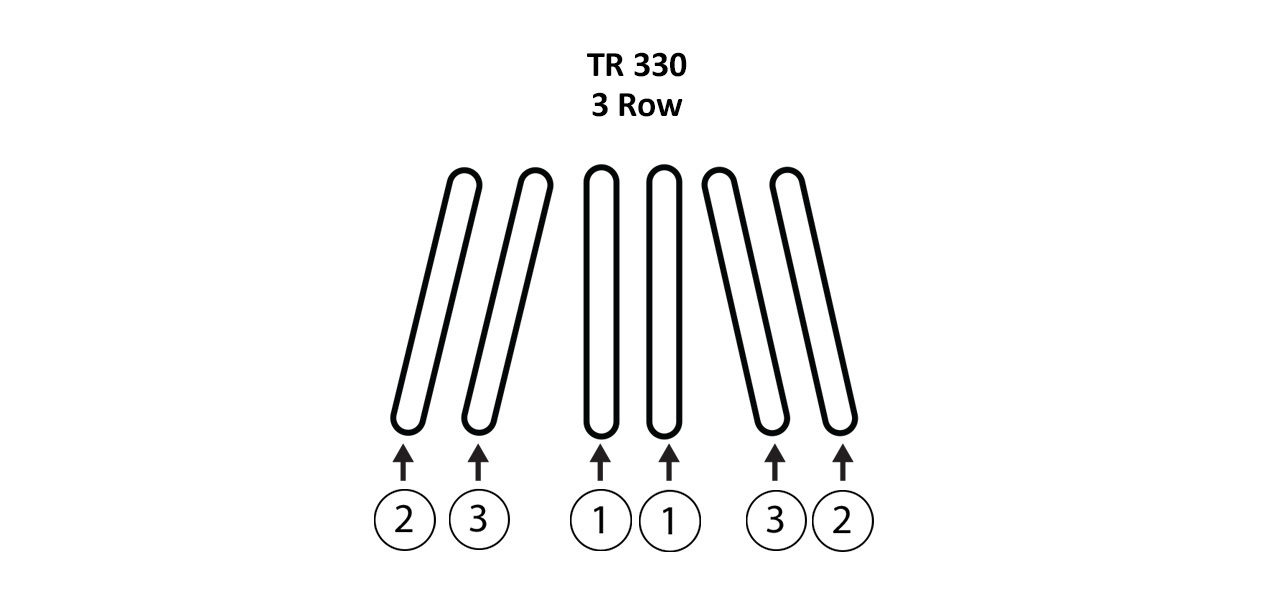 TR 330 3 Row Gathering Belts