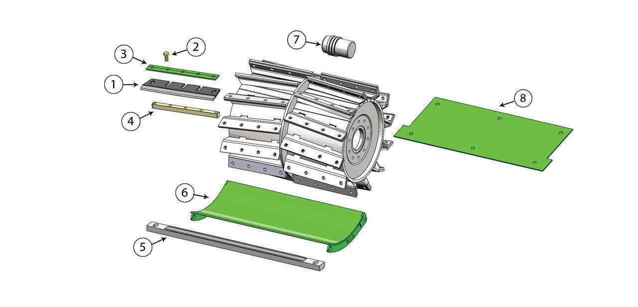 V8 v12 Cutterhead Assembly