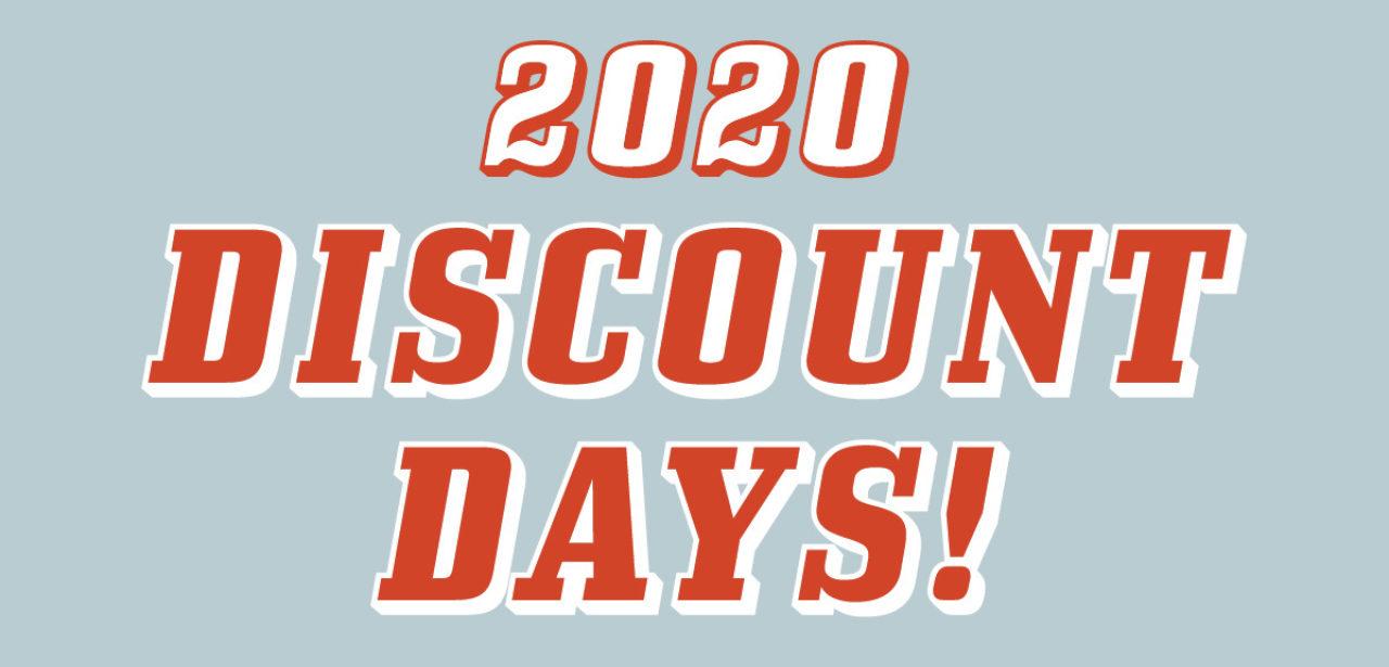 2020 Discount Days