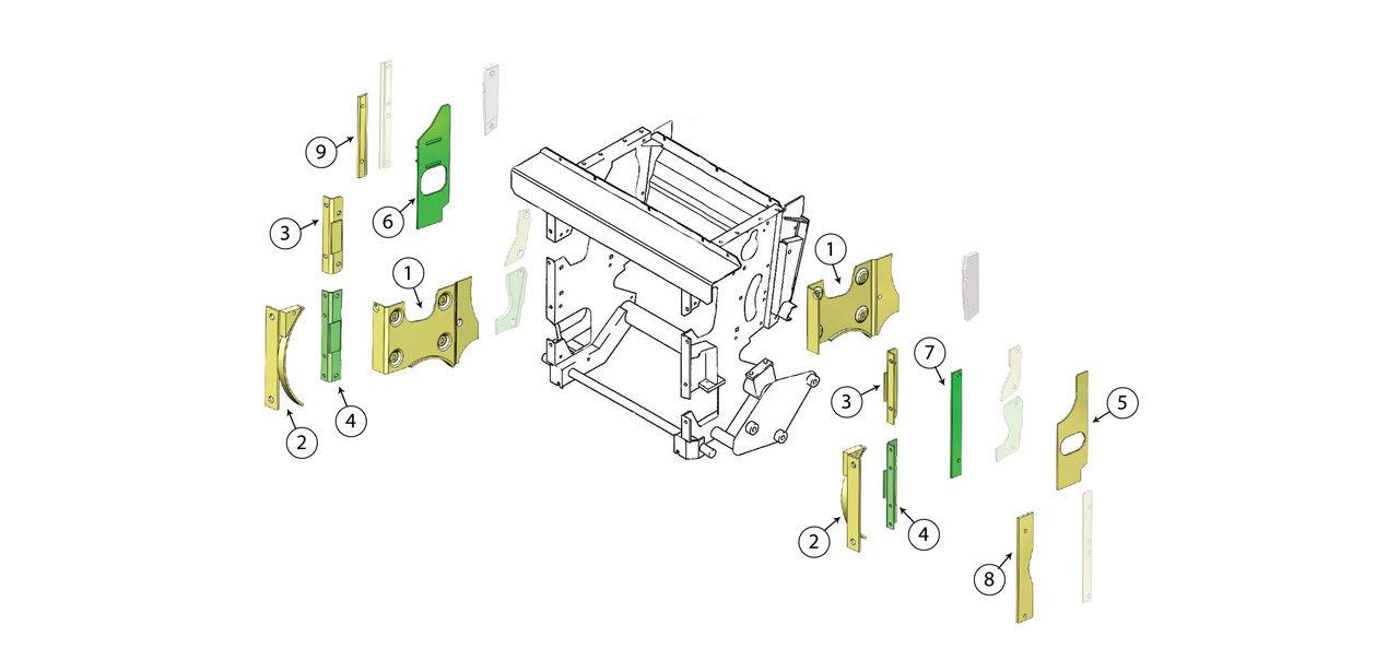 498 Feed Roll Housing Wear Plate Assembly